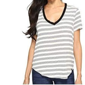 VOLCOM Lived In Loose Fitting V-Neck Tee Striped